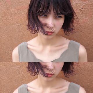 ウェットヘア 暗髪 ナチュラル ショートボブ ヘアスタイルや髪型の写真・画像