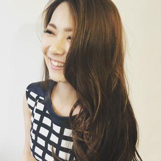 パーマ 外国人風 コンサバ ロング ヘアスタイルや髪型の写真・画像