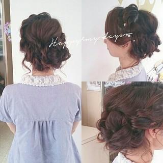 ブライダル 大人かわいい 夏 ヘアアレンジ ヘアスタイルや髪型の写真・画像