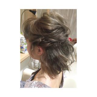 アップスタイル ゆるふわ ハーフアップ ヘアアレンジ ヘアスタイルや髪型の写真・画像