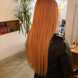 エレガント ダブルカラー デート ロング ヘアスタイルや髪型の写真・画像