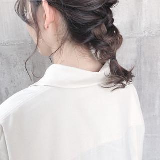 結婚式 デート アンニュイほつれヘア セミロング ヘアスタイルや髪型の写真・画像 ヘアスタイルや髪型の写真・画像
