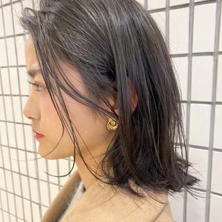 大人ミディアム ミディアム ハイライト フェミニン ヘアスタイルや髪型の写真・画像