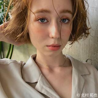 ボブ ナチュラル ミニボブ ショートヘア ヘアスタイルや髪型の写真・画像