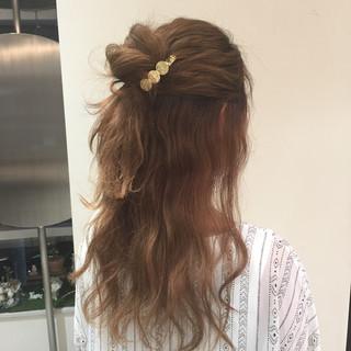 女子会 リラックス 簡単ヘアアレンジ デート ヘアスタイルや髪型の写真・画像