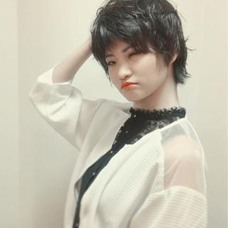 似合わせ ショート 小顔 黒髪 ヘアスタイルや髪型の写真・画像