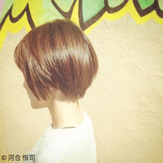 小顔 大人女子 ショート 色気 ヘアスタイルや髪型の写真・画像