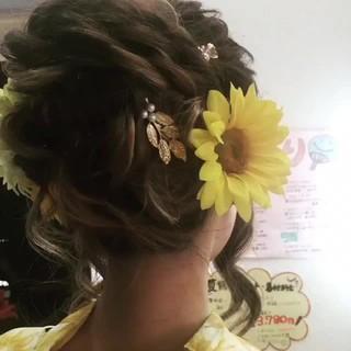 夏 大人女子 上品 結婚式 ヘアスタイルや髪型の写真・画像 ヘアスタイルや髪型の写真・画像