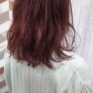 大学生 セミロング ブリーチ ガーリー ヘアスタイルや髪型の写真・画像 ヘアスタイルや髪型の写真・画像