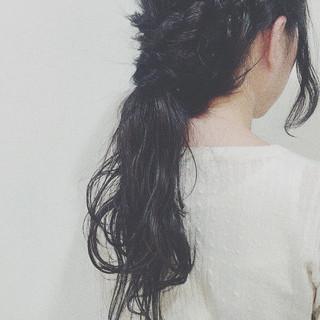 ショート ロング ヘアアレンジ ラフ ヘアスタイルや髪型の写真・画像