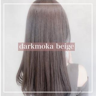 ブリーチなし ベージュカラー 圧倒的透明感 ミディアム ヘアスタイルや髪型の写真・画像