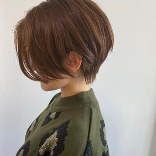 ショートボブ ショート 簡単スタイリング ナチュラル ヘアスタイルや髪型の写真・画像 | FUMI / CITRONblanc