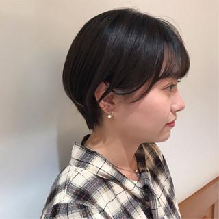 ショートボブ 黒髪 ショート 大人かわいい ヘアスタイルや髪型の写真・画像