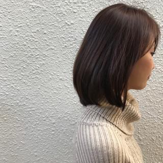 前髪あり 冬 ナチュラル アッシュ ヘアスタイルや髪型の写真・画像