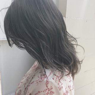 イルミナカラー セミロング ナチュラル オルチャン ヘアスタイルや髪型の写真・画像