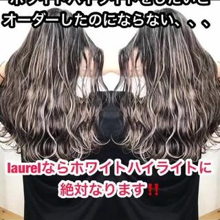 外国人風カラー 3Dハイライト グレージュ グラデーションカラー ヘアスタイルや髪型の写真・画像