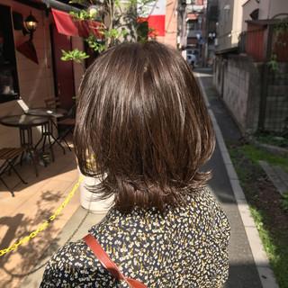 小顔ショート 外ハネボブ くびれボブ ミディアム ヘアスタイルや髪型の写真・画像
