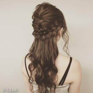 ヘアアレンジ ロング 外国人風 結婚式 ヘアスタイルや髪型の写真・画像 ヘアスタイルや髪型の写真・画像