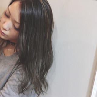ストリート ハイライト 暗髪 ロング ヘアスタイルや髪型の写真・画像