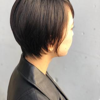 ナチュラル 色気 似合わせ ショート ヘアスタイルや髪型の写真・画像