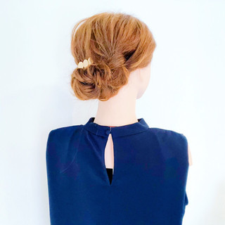 上品 結婚式 デート エレガント ヘアスタイルや髪型の写真・画像