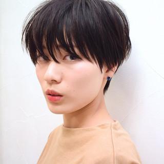 デート パーマ ショート ヘアアレンジ ヘアスタイルや髪型の写真・画像