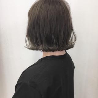 ナチュラル 外ハネ ボブ グラデーションカラー ヘアスタイルや髪型の写真・画像