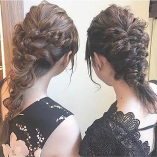 セミロング 結婚式 デート ガーリー ヘアスタイルや髪型の写真・画像 ヘアスタイルや髪型の写真・画像