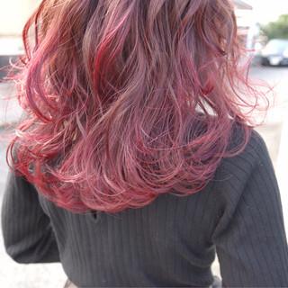 透明感 おフェロ バレンタイン ピンク ヘアスタイルや髪型の写真・画像