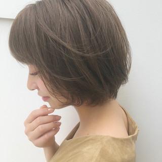 コンサバ ボブ 抜け感 エフォートレス ヘアスタイルや髪型の写真・画像
