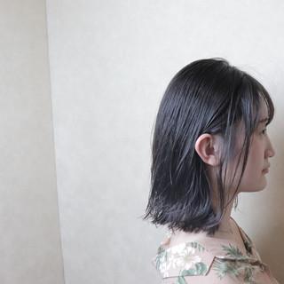 黒髪 フェミニン ボブ デート ヘアスタイルや髪型の写真・画像