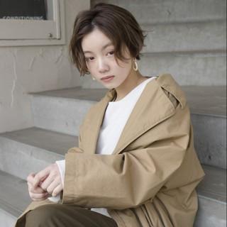 アンニュイ 透明感 ショート ラフ ヘアスタイルや髪型の写真・画像
