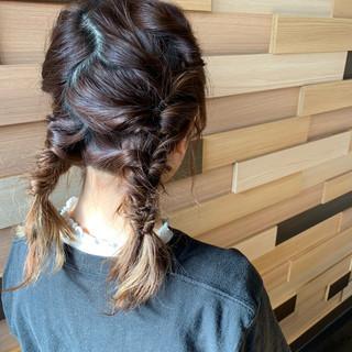 簡単ヘアアレンジ 成人式 ミディアム デート ヘアスタイルや髪型の写真・画像