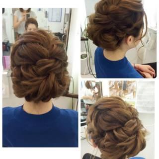 ヘアアレンジ ナチュラル 愛され 編み込み ヘアスタイルや髪型の写真・画像
