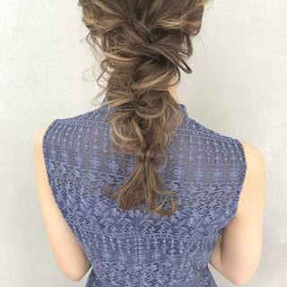 ナチュラル 編みおろし ロング ヘアアレンジ ヘアスタイルや髪型の写真・画像