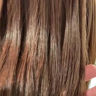 セミロング トリートメント サラサラ 髪質改善 ヘアスタイルや髪型の写真・画像