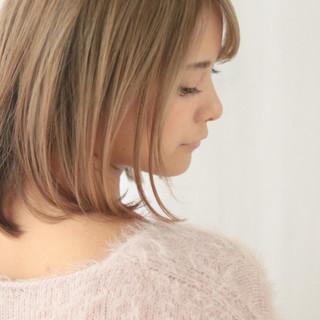 秋 ハイライト ミディアム 冬 ヘアスタイルや髪型の写真・画像