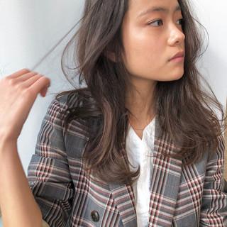 エレガント オフィス ミディアム 大人ハイライト ヘアスタイルや髪型の写真・画像