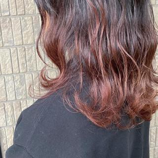 ブラウンベージュ モード ピンク ベージュ ヘアスタイルや髪型の写真・画像