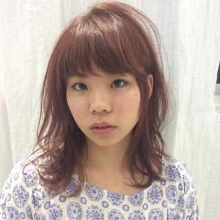 大人かわいい パーマ 春 ミディアム ヘアスタイルや髪型の写真・画像