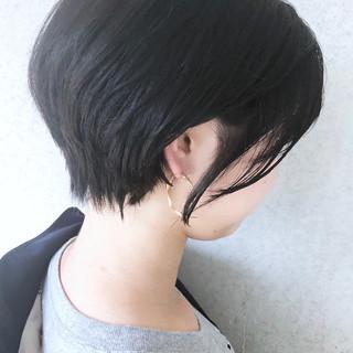 スポーツ ショート 黒髪 小顔ヘア ヘアスタイルや髪型の写真・画像