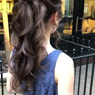 結婚式 福岡市 ロング ポニーテール ヘアスタイルや髪型の写真・画像