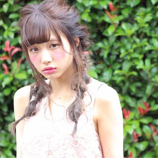 ヘアアレンジ 女子会 簡単ヘアアレンジ ガーリー ヘアスタイルや髪型の写真・画像