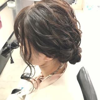 パーティ ミディアム 結婚式 成人式 ヘアスタイルや髪型の写真・画像