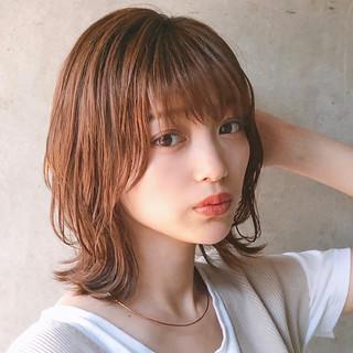 アンニュイほつれヘア 大人かわいい シースルーバング ナチュラル ヘアスタイルや髪型の写真・画像