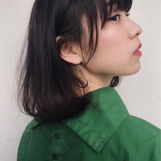 アンニュイ 春 ボブ ナチュラル ヘアスタイルや髪型の写真・画像