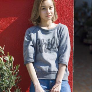 簡単ヘアアレンジ 外国人風 ボブ ストリート ヘアスタイルや髪型の写真・画像