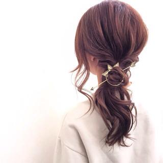 セミロング 外国人風 ヘアアレンジ モテ髪 ヘアスタイルや髪型の写真・画像 ヘアスタイルや髪型の写真・画像