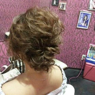上品 結婚式 ヘアアレンジ 編み込み ヘアスタイルや髪型の写真・画像