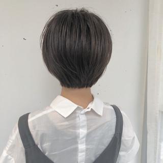 外ハネ ナチュラル ショートボブ ボブ ヘアスタイルや髪型の写真・画像